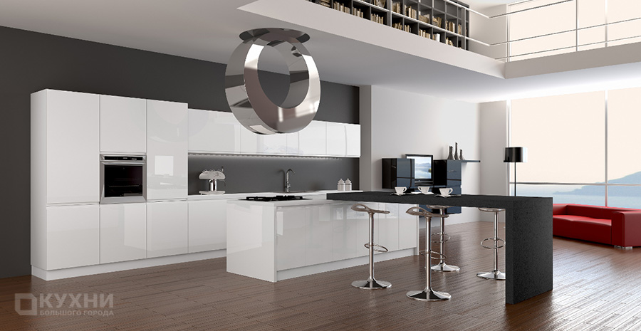 Кухня в стиле хай-тек 12