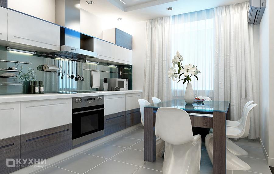 Кухня в стиле хай-тек 8