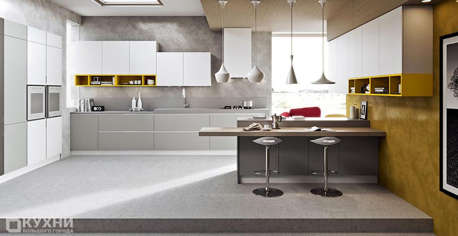 Кухня в стиле хай-тек 11
