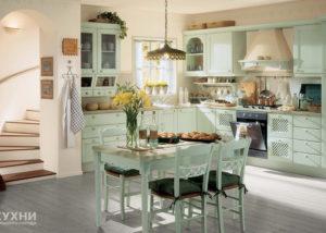 Кухня в стиле прованс 11