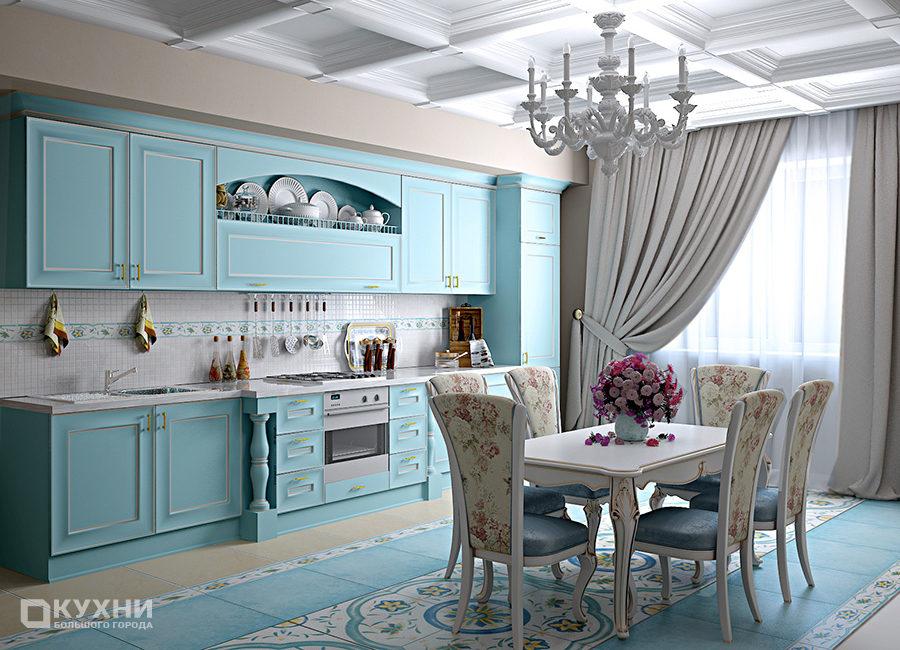 Кухня в стиле прованс 7