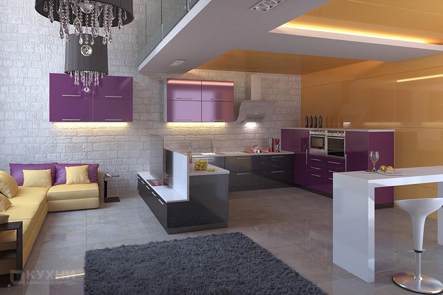 Кухня в стиле Лофт 11