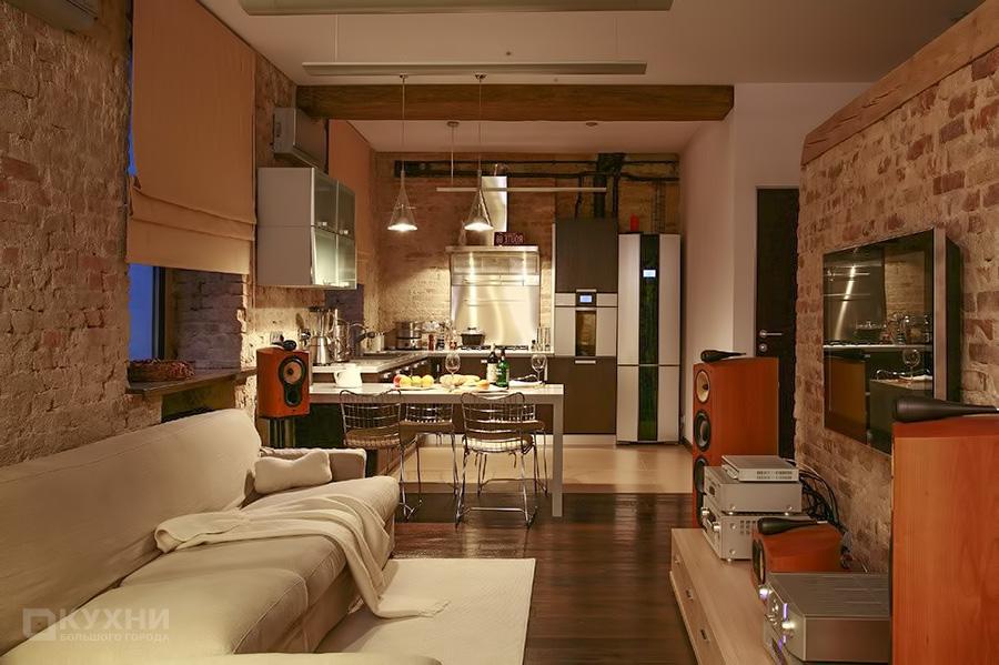 Кухня в стиле Лофт 7