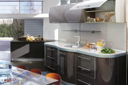 Кухня из пластика «Абу-Даби» в Современном стиле