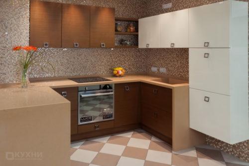 Кухня из шпона «Дрезден» в Современном стиле