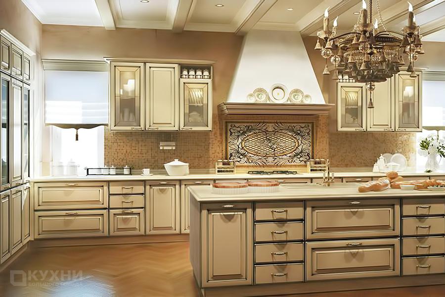 Кухня из МДФ крашеного «Горд» в стиле Прованс