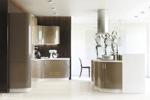 Кухня из акрила «Хошимин» в Современном стиле