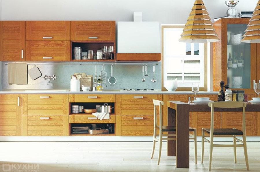 Кухня из массива ясеня «Инсбрук» в Современном стиле