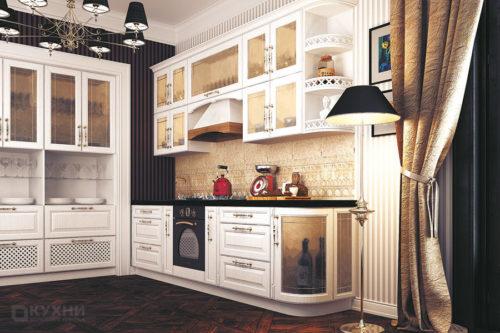Кухня из МДФ рамочного «Катерини» в Классическом стиле