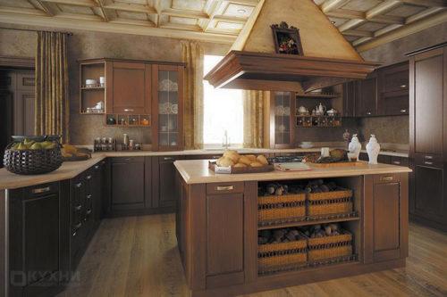Кухня из массива дуба «Кёльн» в Современном стиле