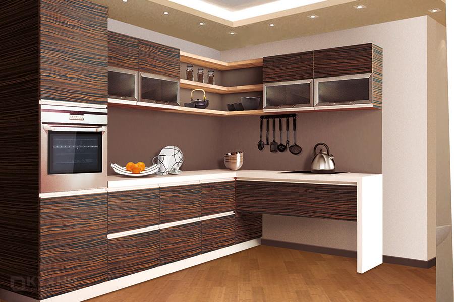 Кухня из шпона «Кейптаун» в Современном стиле
