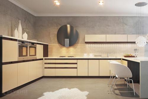 Кухня из МДФ крашеного (эмаль) «Локарно» в Современном стиле