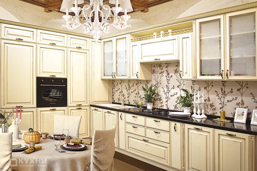Кухня из МДФ крашеного «Люксембург» в Классическом стиле