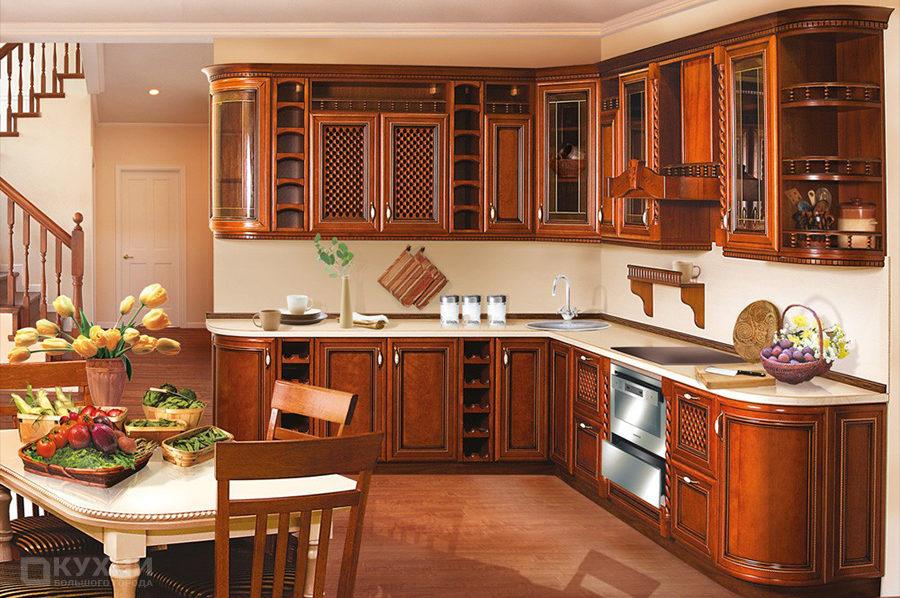Кухня из массива ольхи «Манчестер» в Классическом стиле
