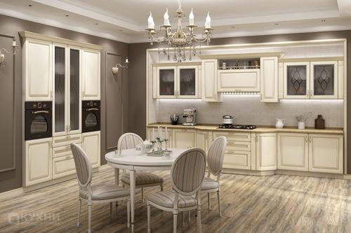 Кухня из МДФ крашеного «Монако» в Классическом стиле