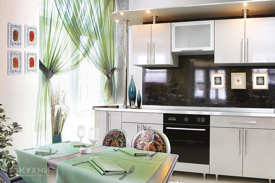 Кухня из пластика «Никея» в Современном стиле