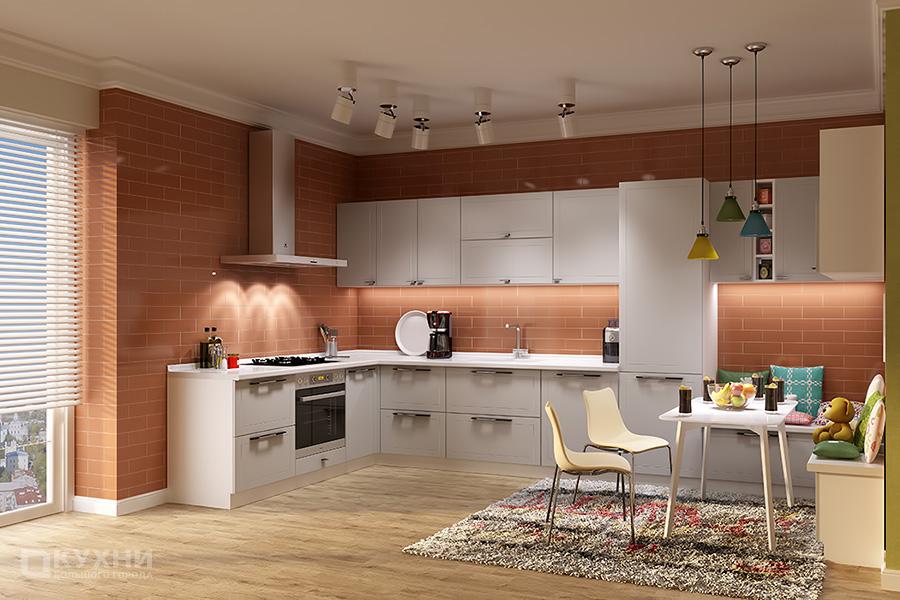 Кухня из МДФ крашеного (эмаль) «Палермо» в Современном стиле