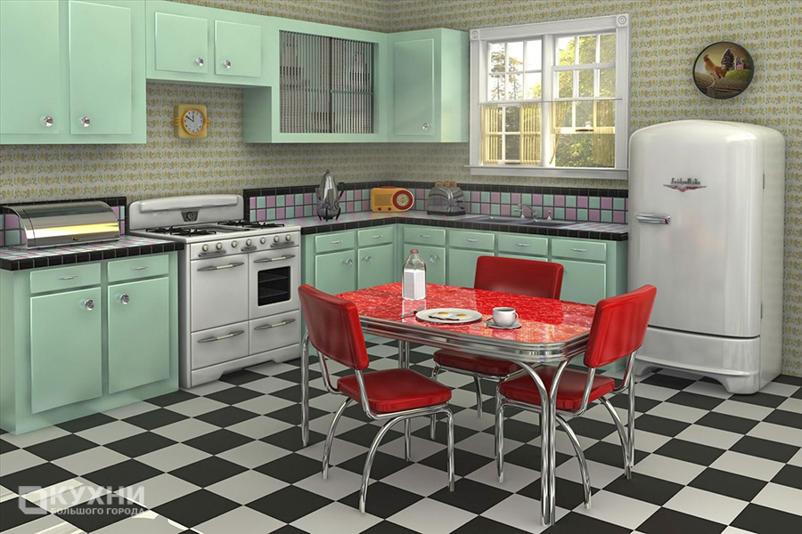 Кухня в стиле Ретро 1