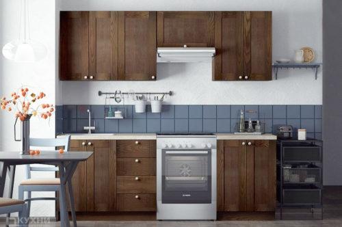 Кухня из массива ясеня «Швац» в Современном стиле