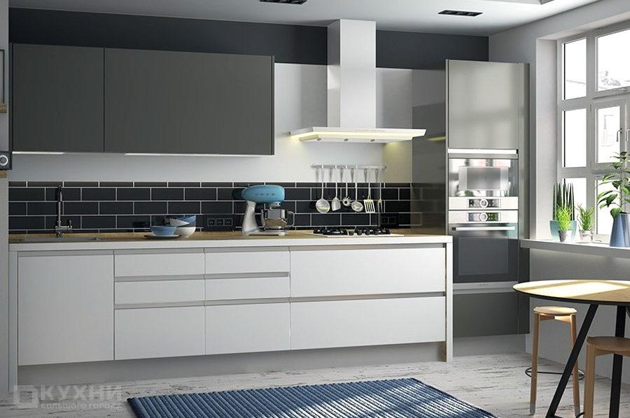 Кухня из акрила «Сидней» в Современном стиле