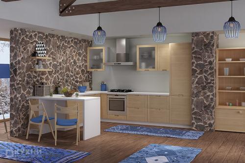 Кухня из массива ясеня «Тирана» в Современном стиле