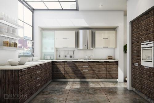 Кухня из акрила «Торреон» в Современном стиле