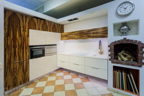 Кухня из шпона «Варшава» в Современном стиле