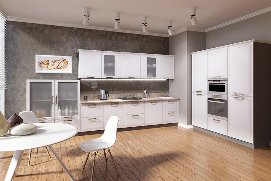 Кухня из МДФ крашеного (эмаль) «Вайле» в Современном стиле