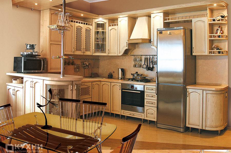 Кухня из массива дуба «Вена» в Классическом стиле