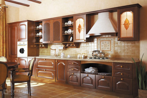 Кухня из массива дуба «Графство Йоркшир» в Классическом стиле