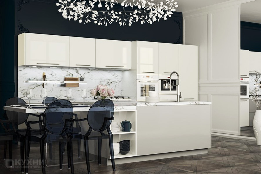 Кухня из акрила «Женева» в Современном стиле