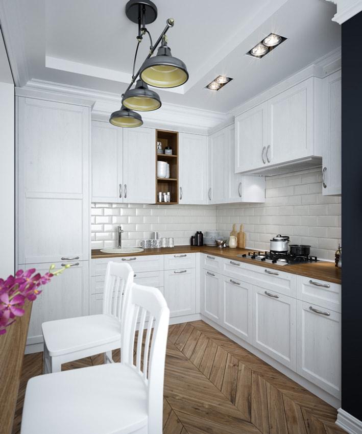 Кухня из МДФ «Апт» в стиле прованс