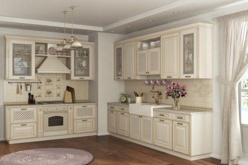 Кухня из МДФ рамочного «Бонньё» в стиле прованс