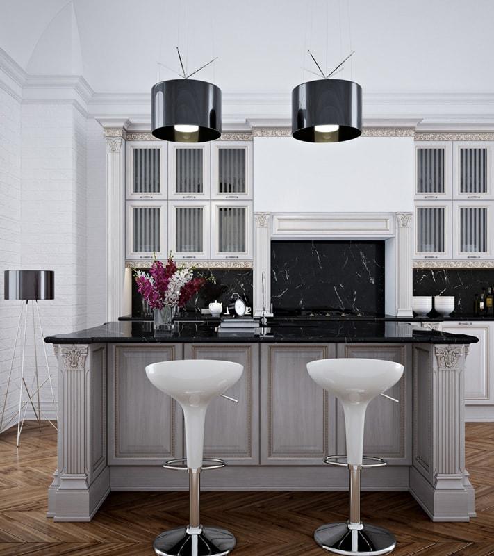Кухня из МДФ рамочного «Валетта» в Классическом стиле