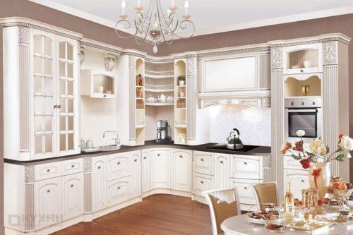 Кухня из массива ясеня «Афины» в Классическом стиле