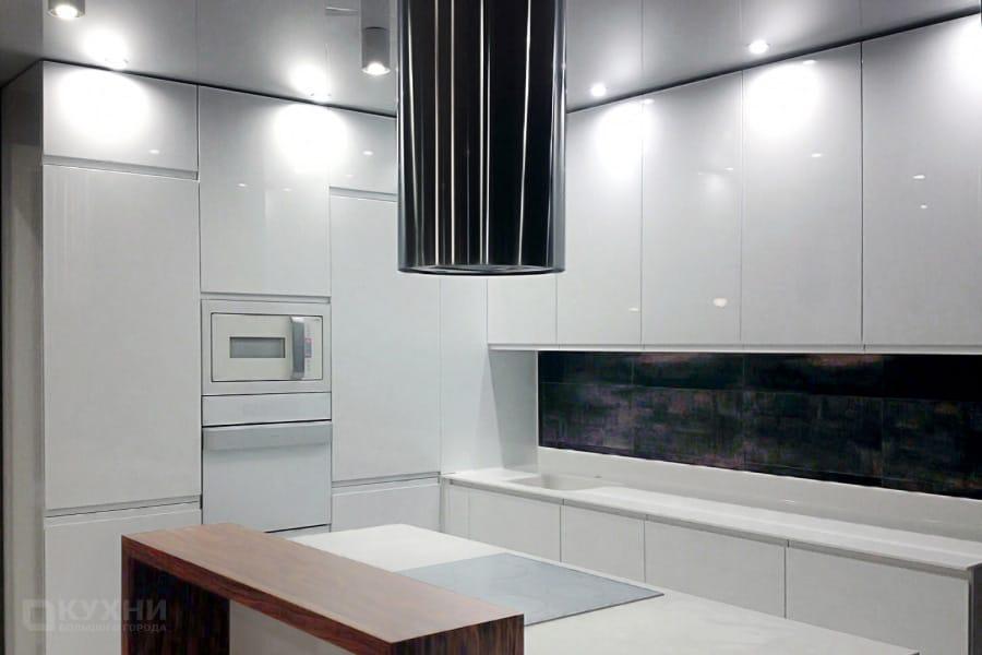 Кухня из МДФ крашеного (эмаль) «Касабланка» в Современном стиле