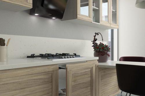 Кухня из МДФ рамочного «Дуйсбург» в Современном стиле