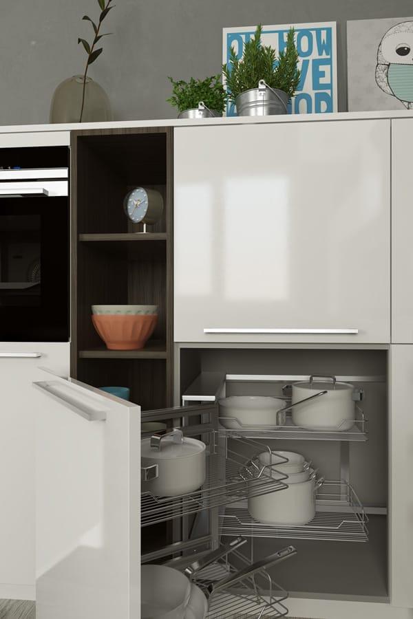 Кухня из пластика «Гладбек» в Современном стиле